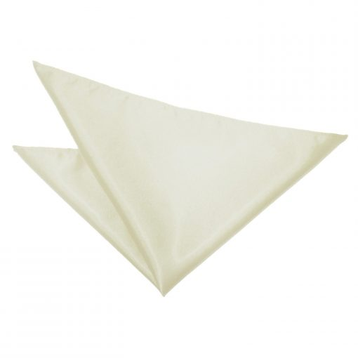 Ivory Plain Satin Handkerchief / Pocket Square
