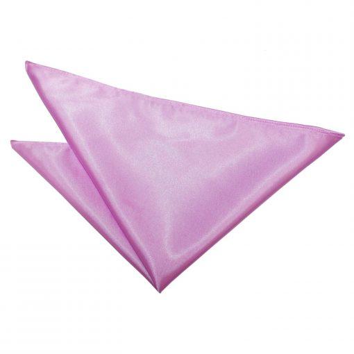 Lilac Plain Satin Pocket Square
