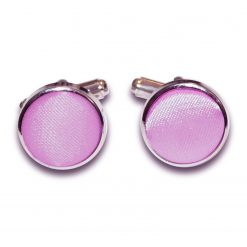 Lilac Plain Satin Cufflinks
