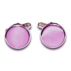 Lilac Plain Satin Cufflinks