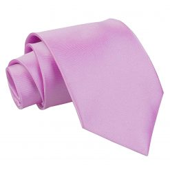 Lilac Plain Satin Extra Long Tie