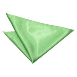 Lime Green Plain Satin Pocket Square