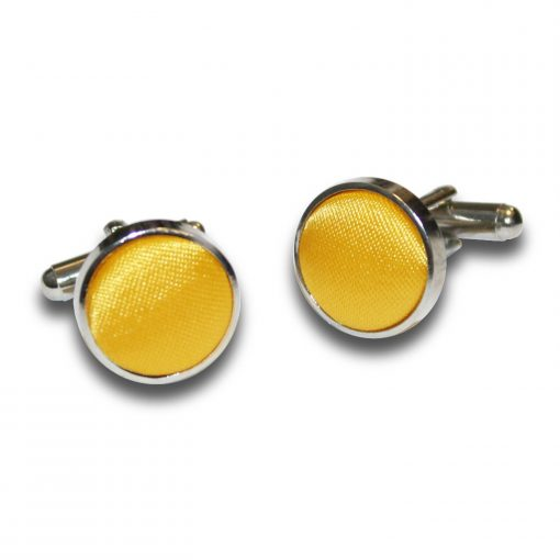 Marigold Plain Satin Cufflinks