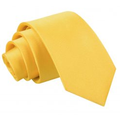 Marigold Plain Satin Slim Tie