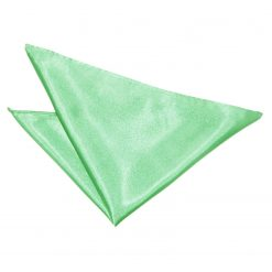 Mint Green Plain Satin Handkerchief / Pocket Square