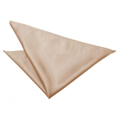 Mocha Brown Plain Satin Handkerchief / Pocket Square