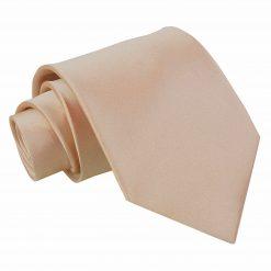 Mocha Brown Plain Satin Extra Long Tie
