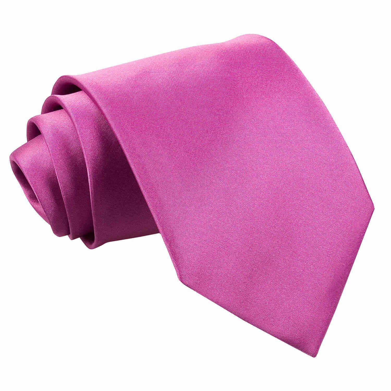 Men's Plain Mulberry Satin Tie
