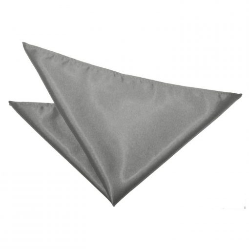 Platinum Plain Satin Handkerchief / Pocket Square
