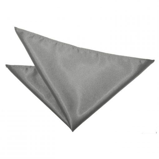Platinum Plain Satin Pocket Square