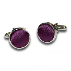 Plum Plain Satin Cufflinks