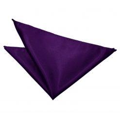 Purple Plain Satin Pocket Square