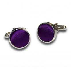 Purple Plain Satin Cufflinks