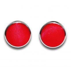 Red Plain Satin Cufflinks