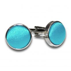 Robin's Egg Blue Plain Satin Cufflinks
