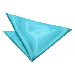 Robin's Egg Blue Plain Satin Pocket Square