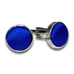 Royal Blue Plain Satin Cufflinks