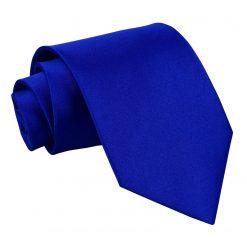 Royal Blue Plain Satin Extra Long Tie