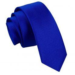 Royal Blue Plain Satin Skinny Tie