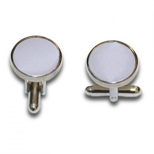 Silver Plain Satin Cufflinks