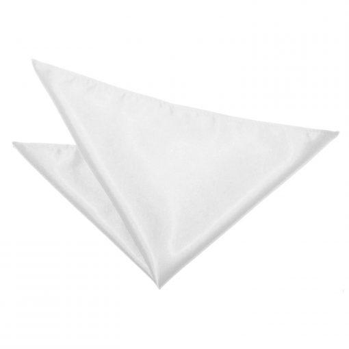 White Plain Satin Pocket Square