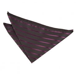 Black & Purple Single Stripe Pocket Square