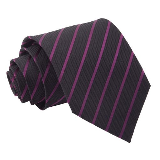 Black & Purple Single Stripe Classic Tie