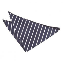 Navy & White Single Stripe Handkerchief / Pocket Square