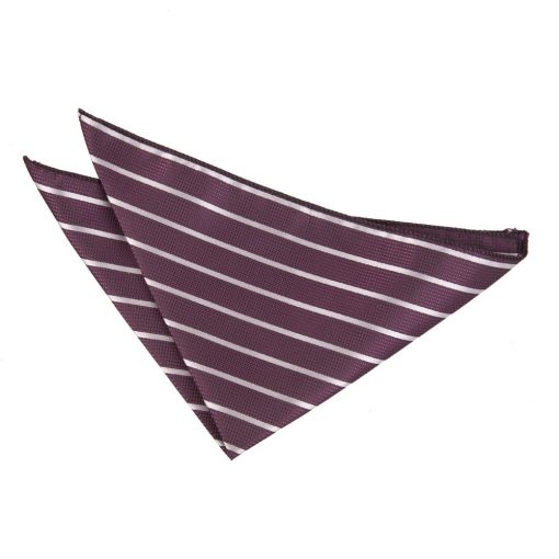 Purple & Silver Single Stripe Handkerchief / Pocket Square