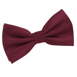 Burgundy Solid Check Pre-Tied Bow Tie