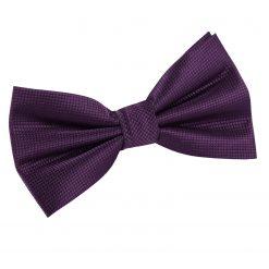 Cadbury Purple Solid Check Pre-Tied Bow Tie