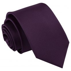 Cadbury Purple Solid Check Slim Tie