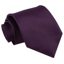 Cadbury Purple Solid Check Classic Tie