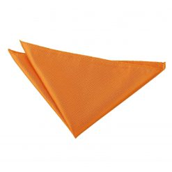 Celosia Orange Solid Check Handkerchief / Pocket Square