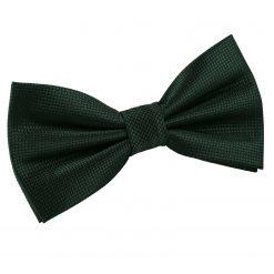 Dark Green Solid Check Pre-Tied Bow Tie