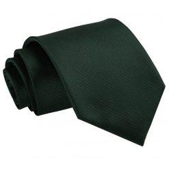 Dark Green Solid Check Classic Tie