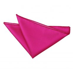 Fuchsia Pink Solid Check Handkerchief / Pocket Square