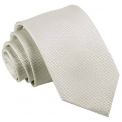 Ivory Solid Check Slim Tie