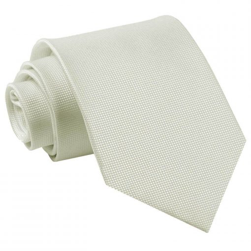 Ivory Solid Check Classic Tie