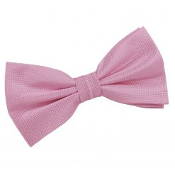 Light Pink Solid Check Pre-Tied Bow Tie