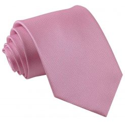 Light Pink Solid Check Classic Tie