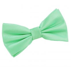 Mint Green Solid Check Pre-Tied Bow Tie