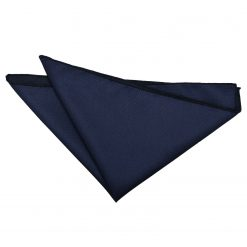 Navy Blue Solid Check Handkerchief / Pocket Square
