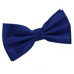 Royal Blue Solid Check Pre-Tied Bow Tie