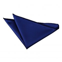 Royal Blue Solid Check Handkerchief / Pocket Square