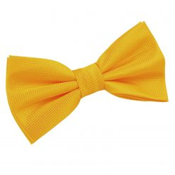 Sunflower Gold Solid Check Pre-Tied Bow Tie