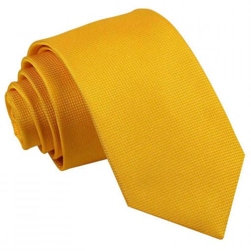 Sunflower Gold Solid Check Slim Tie