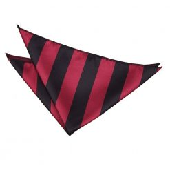 Burgundy & Black Striped Handkerchief / Pocket Square