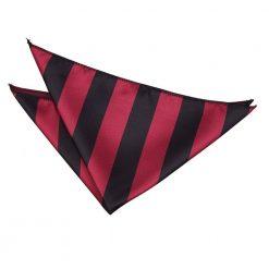Burgundy & Black Striped Pocket Square