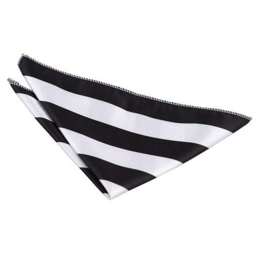 Black & White Striped Handkerchief / Pocket Square